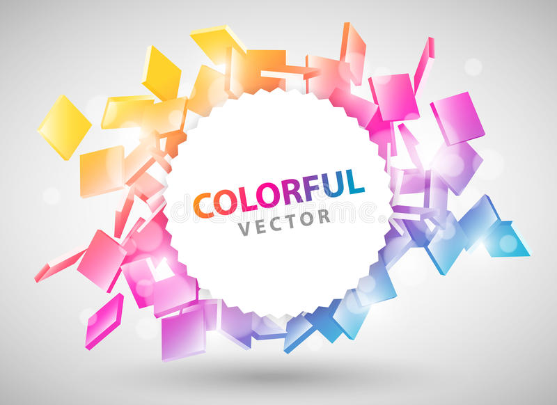 Colorful Particles Design Royalty Free Stock Images