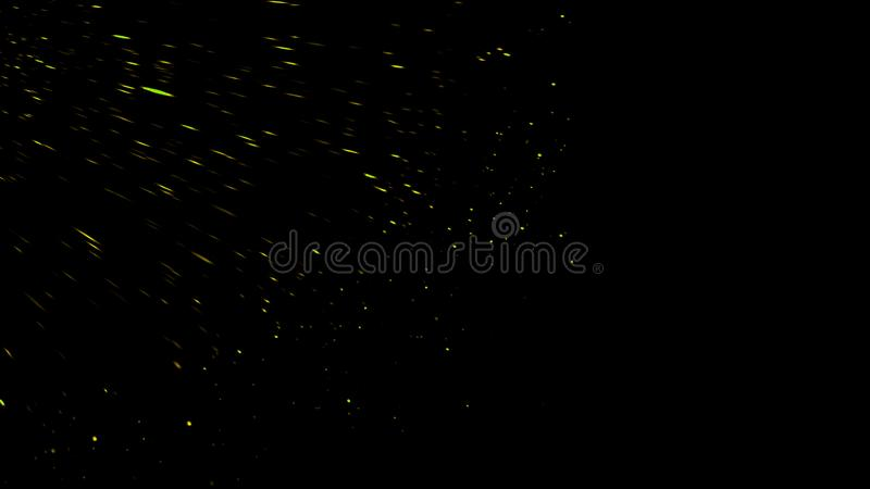 Colorful particles effect dust debris isolated on black background, motion powder spray burst in dark texture. Colorful particles effect dust debris isolated on stock image