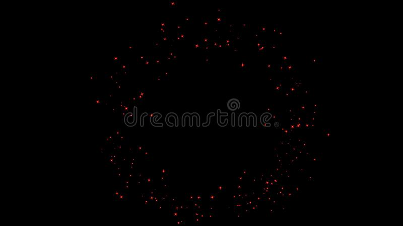 Colorful particles effect dust debris isolated on black background, motion powder spray burst in dark texture. Colorful particles effect dust debris isolated on stock images