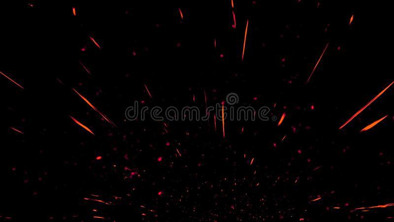Colorful particles effect dust debris isolated on black background, motion powder spray burst in dark texture. Colorful particles effect dust debris isolated on royalty free stock photos