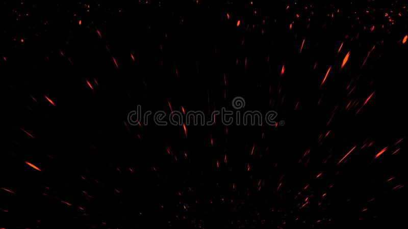 Colorful particles effect dust debris isolated on black background, motion powder spray burst in dark texture. Colorful particles effect dust debris isolated on stock photo