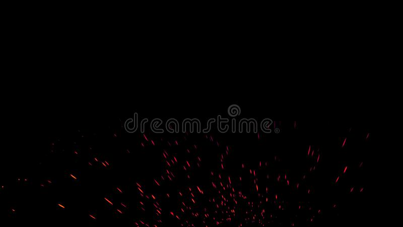 Colorful particles effect dust debris isolated on black background, motion powder spray burst in dark texture. Colorful particles effect dust debris isolated on royalty free stock photo
