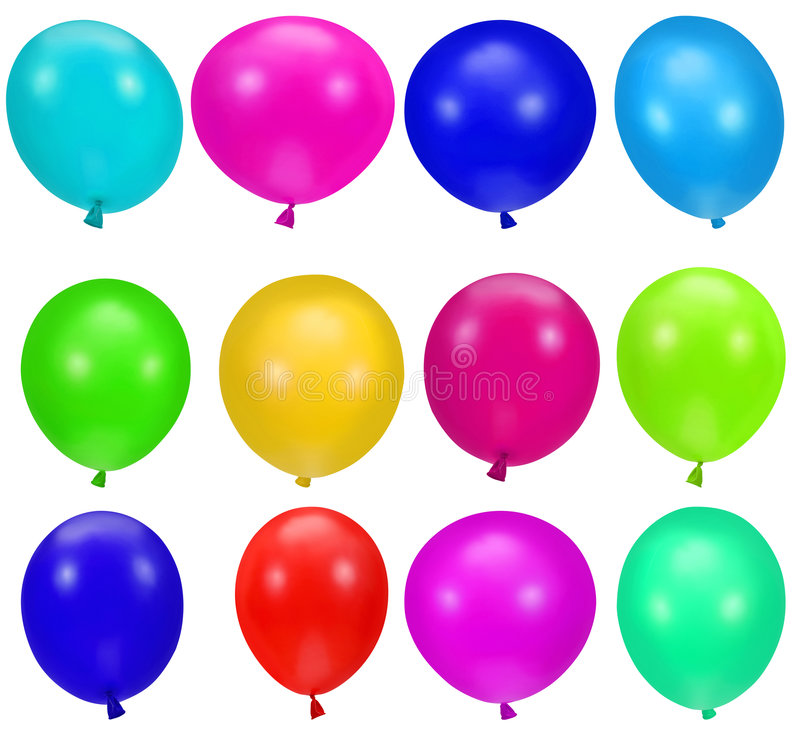 Colorful party balloons background royalty free illustration