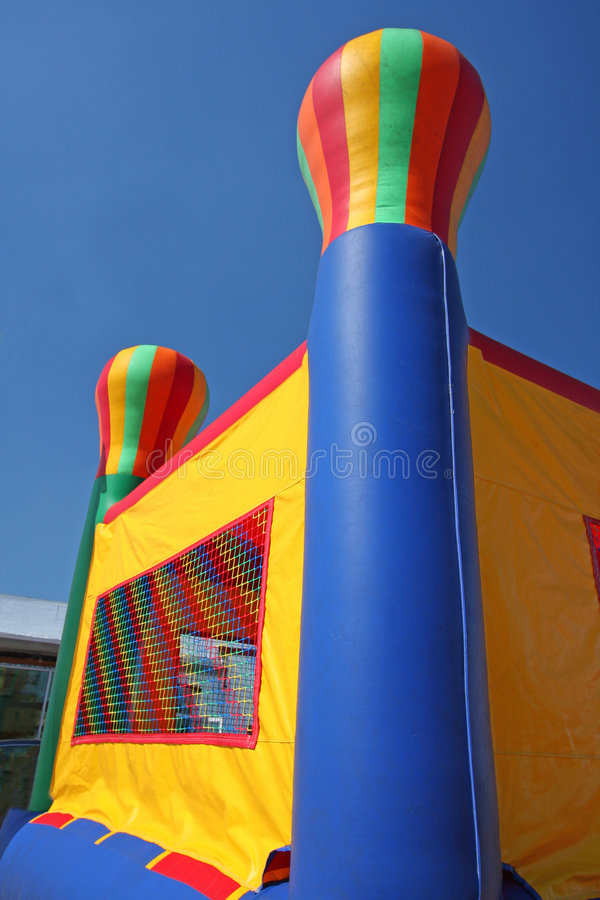 Free Colorful Party Bounce House Stock Photography - 8305352