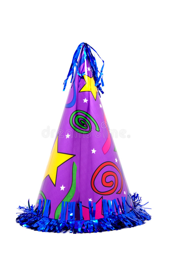 Colorful Party Hat stock image