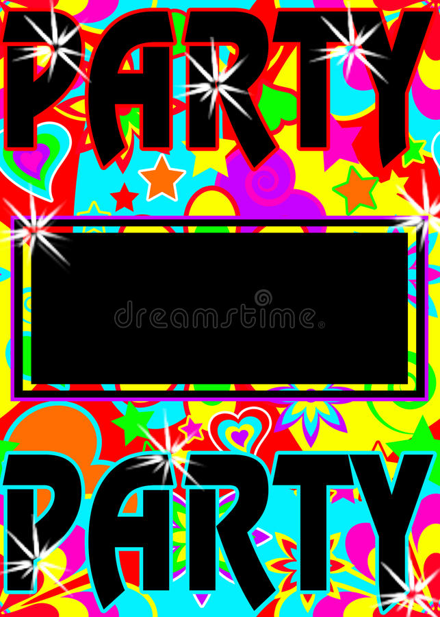 Colorful party invite stock illustration. Illustration of bright ...