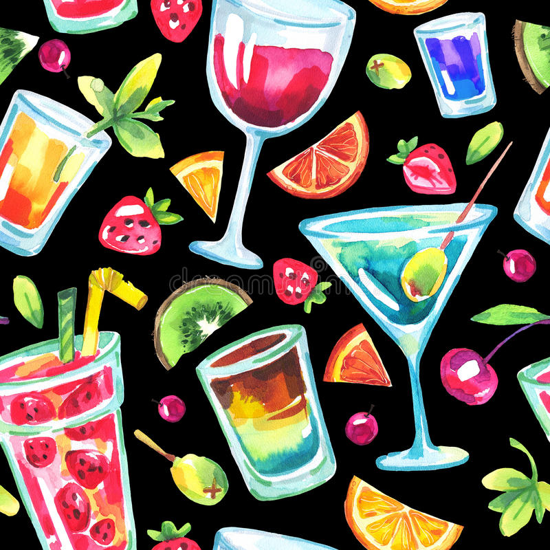 Colorful party seamless pattern. stock illustration