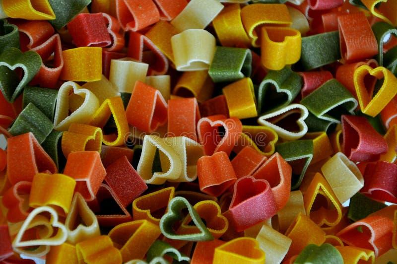 Colorful pasta stock photo