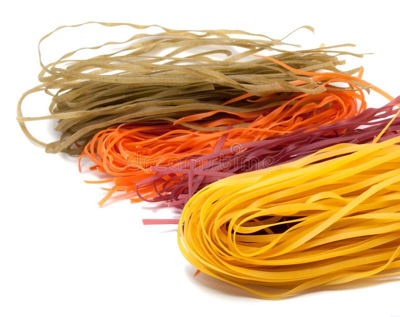 Colorful pasta isolated royalty free stock images