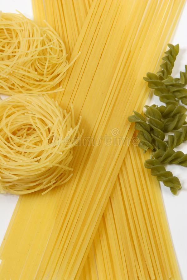 Colorful pasta , Spaghetti stock photography