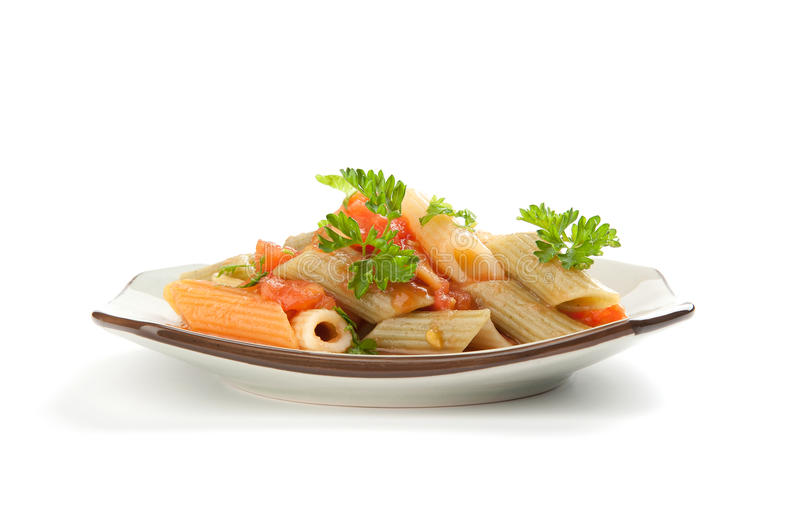 Colorful pasta stock photography