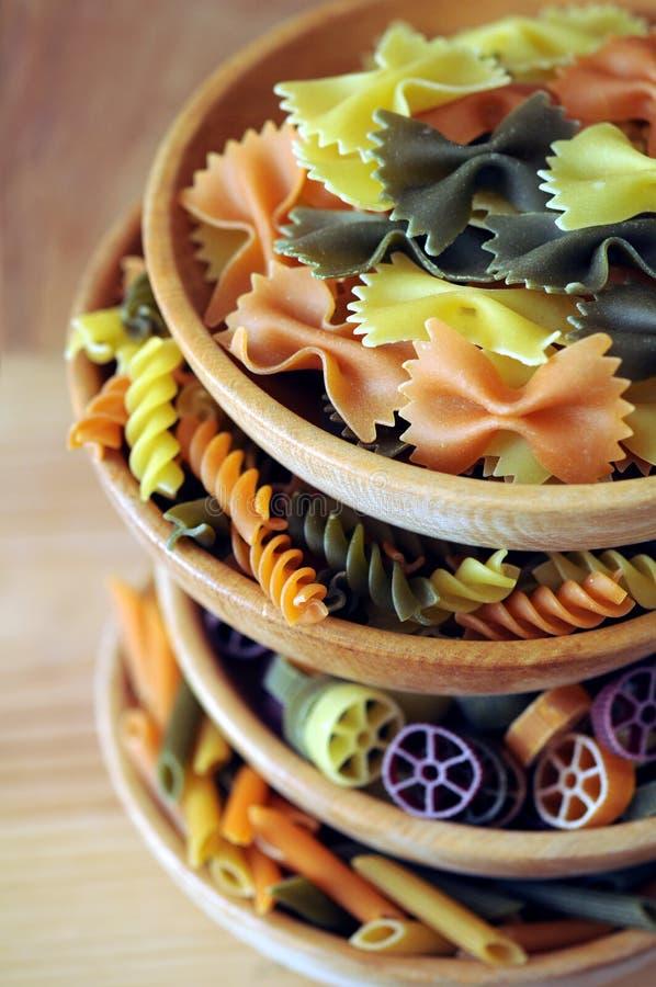 Colorful pastas royalty free stock photos