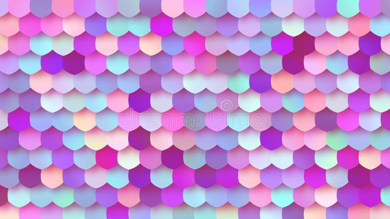 Pastel Bright Colorful Mosaic Trendy BG Design. Colorful Pastel Background for Your Business and Advertising Graphic Design Project. Trendy Creative Desktop stock illustration