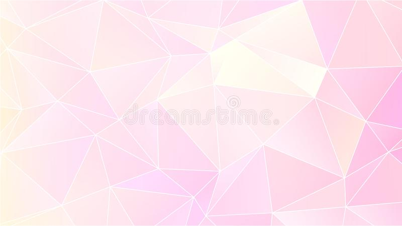 Pastel Bright Pink Low Poly Backdrop Design. Colorful Pastel Background for Your Business and Advertising Graphic Design Project. Trendy Creative Desktop royalty free illustration