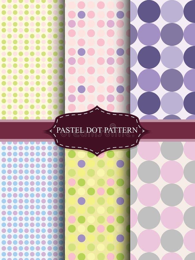 Colorful pastel dot. Seamless pattern royalty free illustration