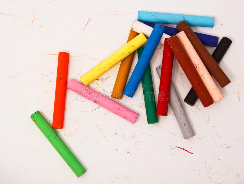 Download Colorful pastel sticks stock photo. Image of messy, color - 39504798