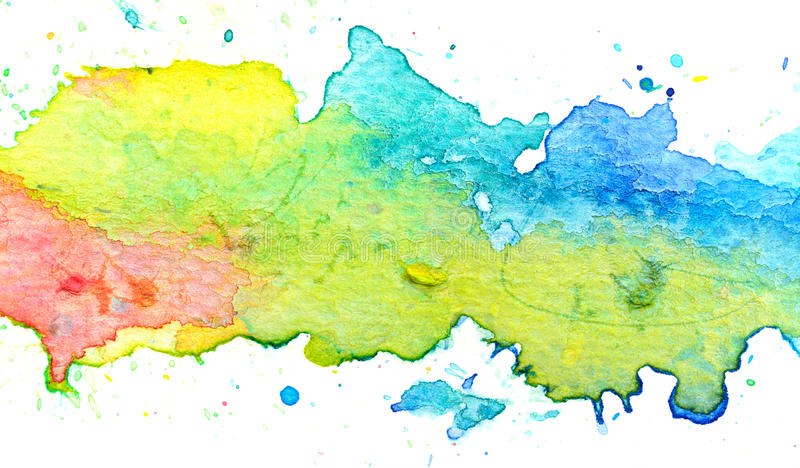 Colorful pastel watercolor painting background. Texture stock illustration