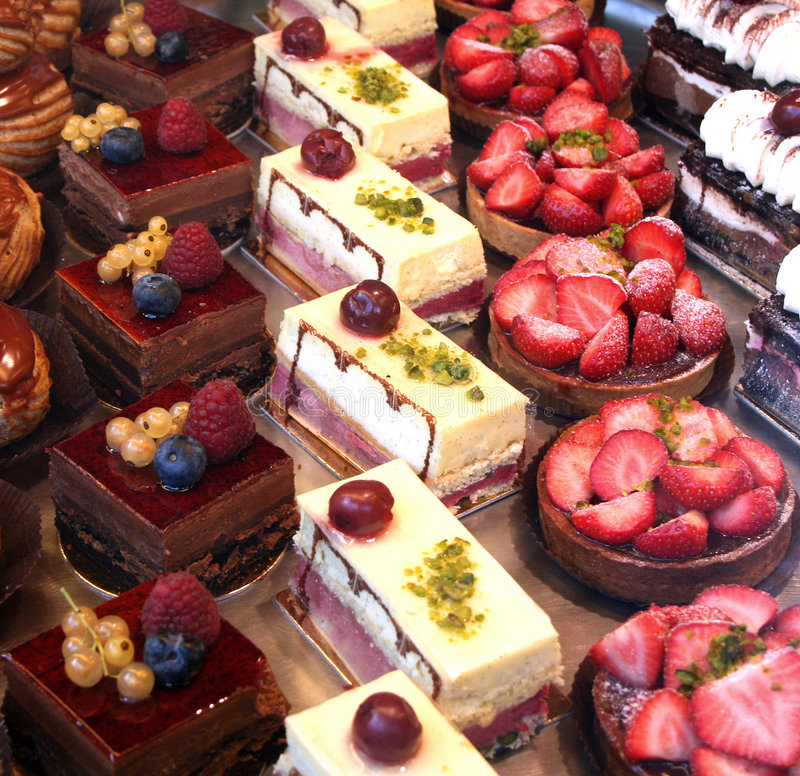 Colorful Pastry Display royalty free stock image