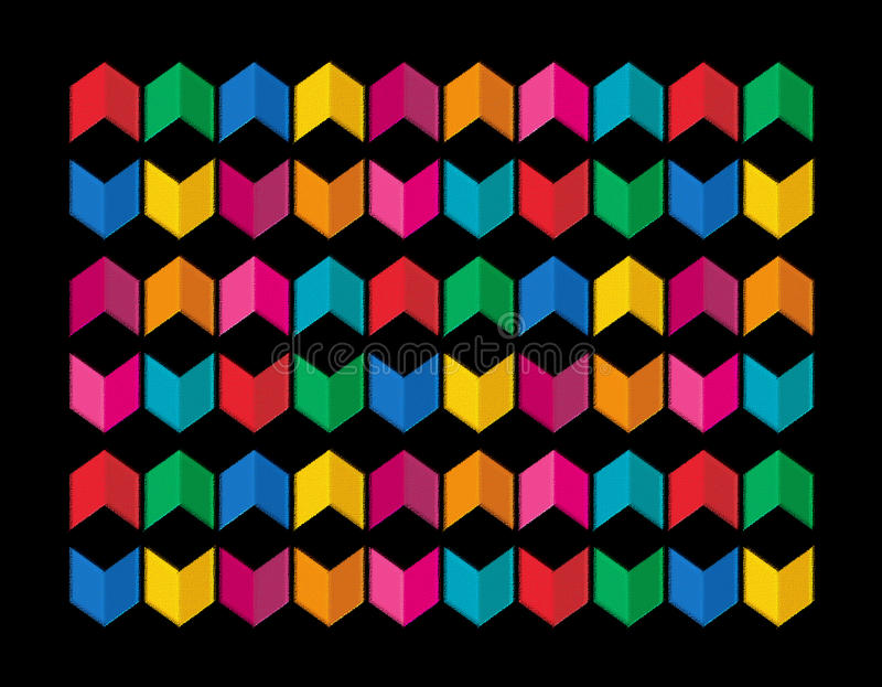 Colorful Pattern. A colorful pattern with open book graphics stock illustration