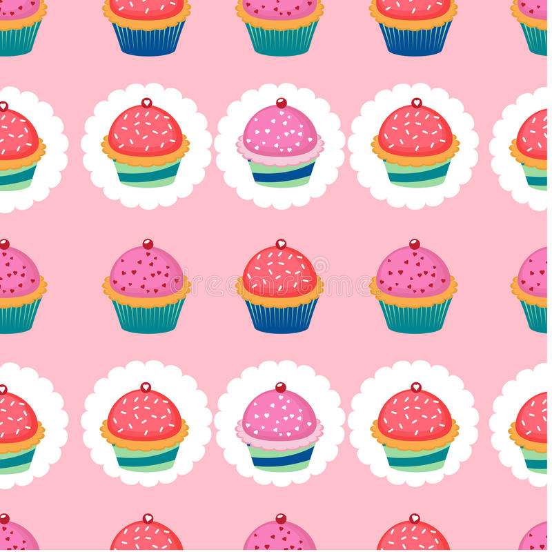 Download Colorful Pattern With Cupcakes Stock Vector - Image: 31941039