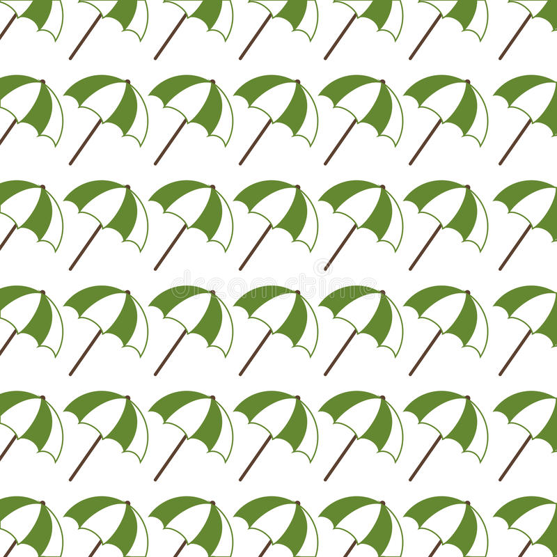 Colorful pattern with opened umbrellas. Vector illustration royalty free illustration