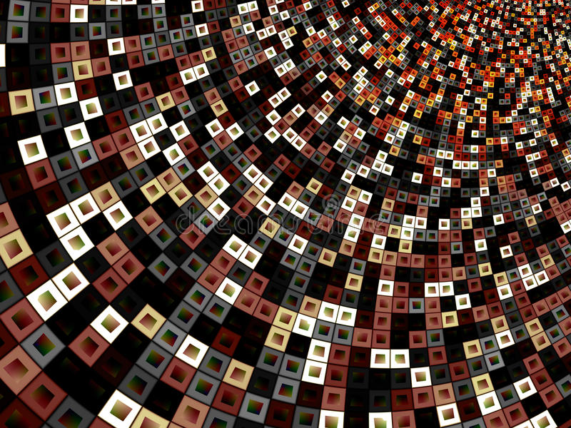 Colorful Pattern of Squares Within Squares. Background stock illustration