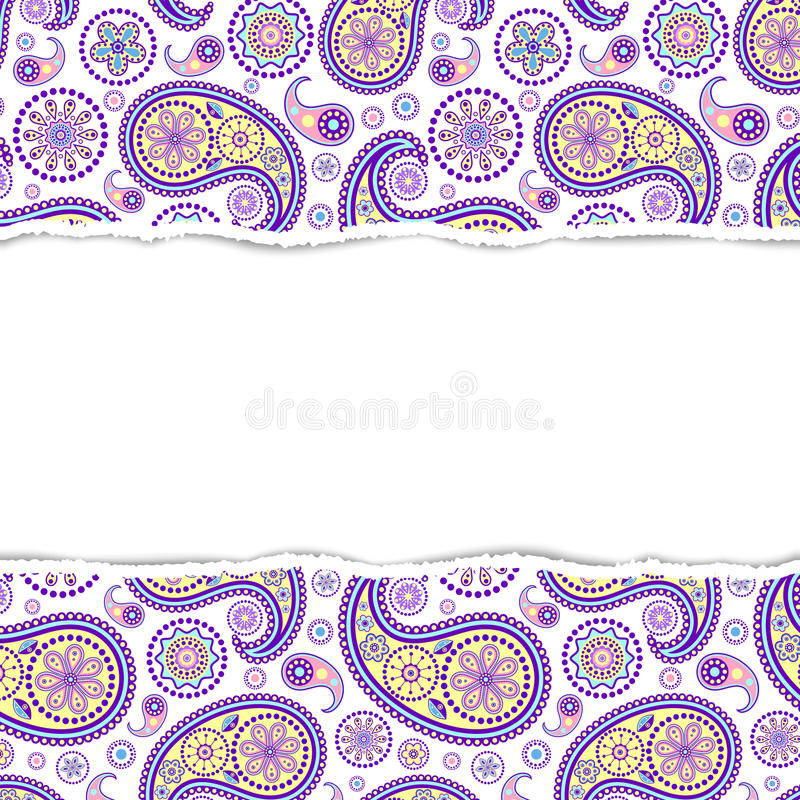 Colorful pattern with torn paper vector illustration