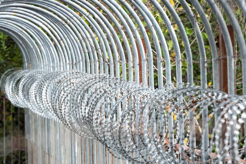 Colorful patterns of barbed wire. royalty free stock photo
