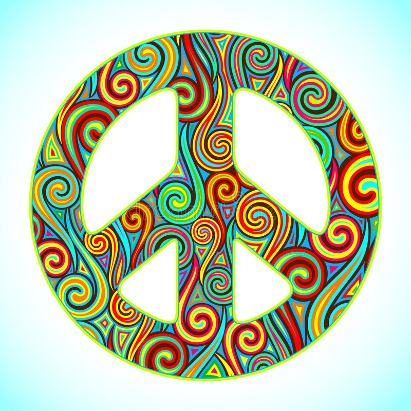 Download Colorful Peace stock vector. Image of circle, awareness - 22812722