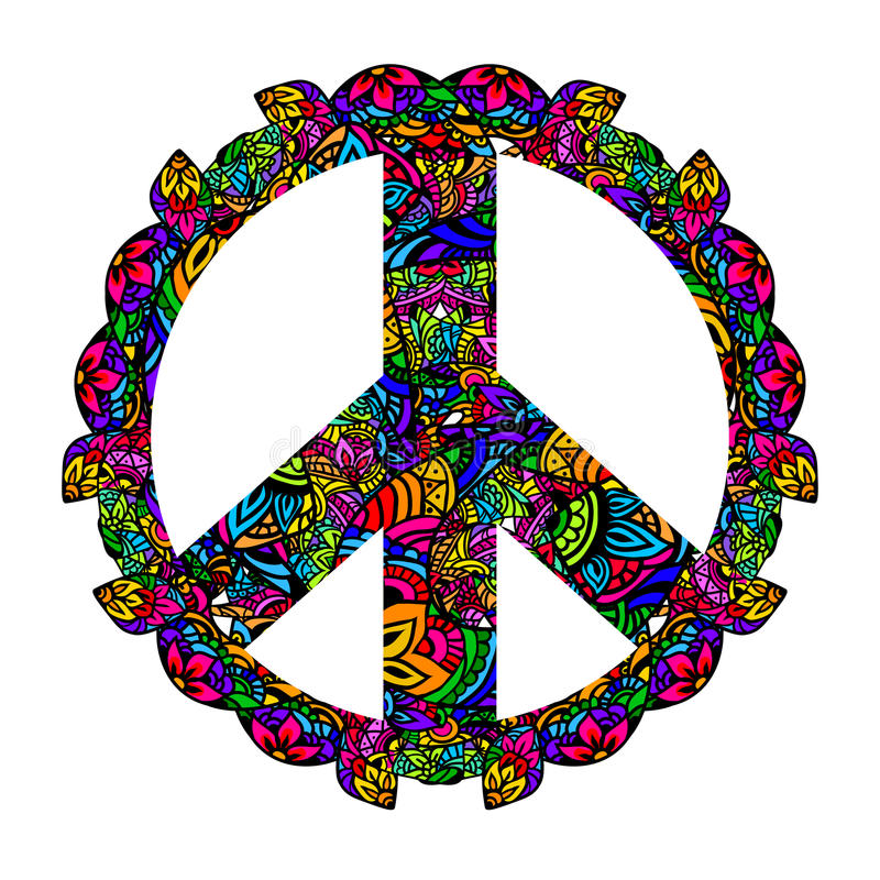 Colorful Peace Symbol Stock Vector Illustration Of Imagery 64193594