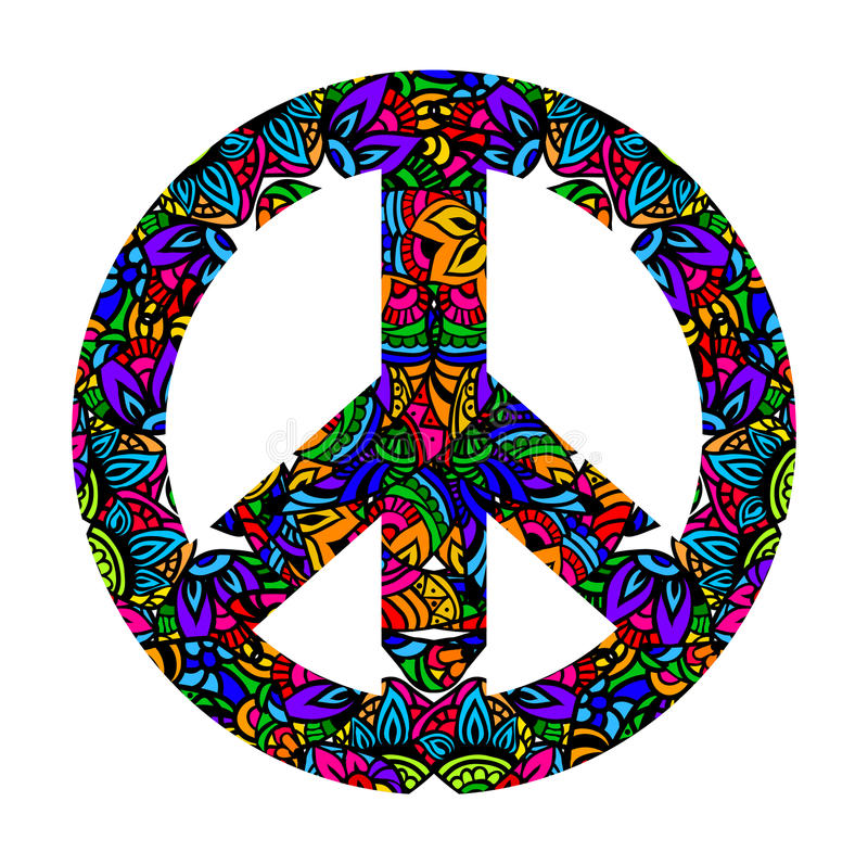 Colorful Peace Symbol Stock Vector Illustration Of Elements 64193743