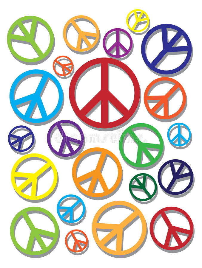 Colorful Peace Symbol On Texture Background Stock Vector