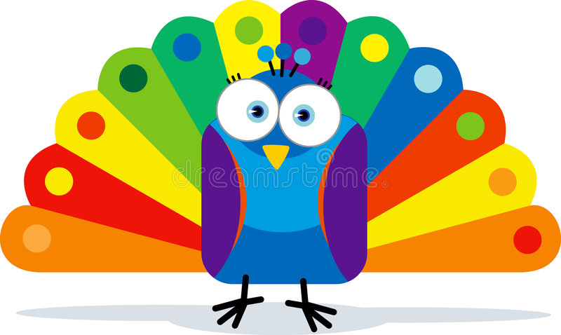 Colorful Peacock stock illustration