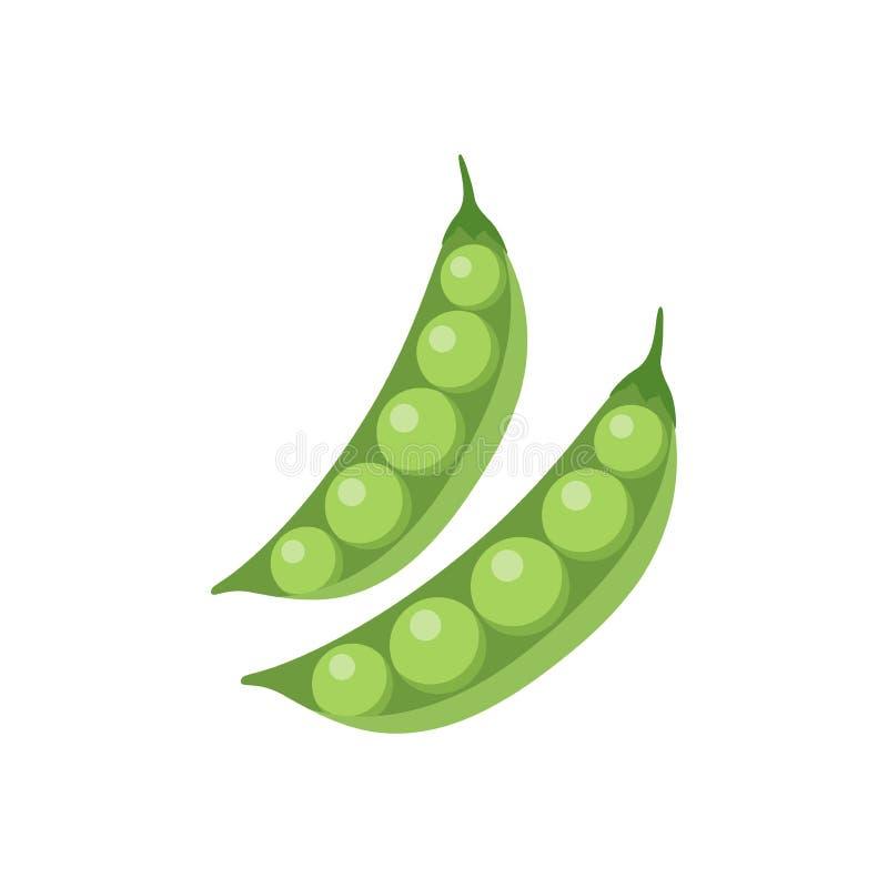 Colorful peas clipart cartoon. Peas vector illustration. Colorful peas clipart illustration vector illustration