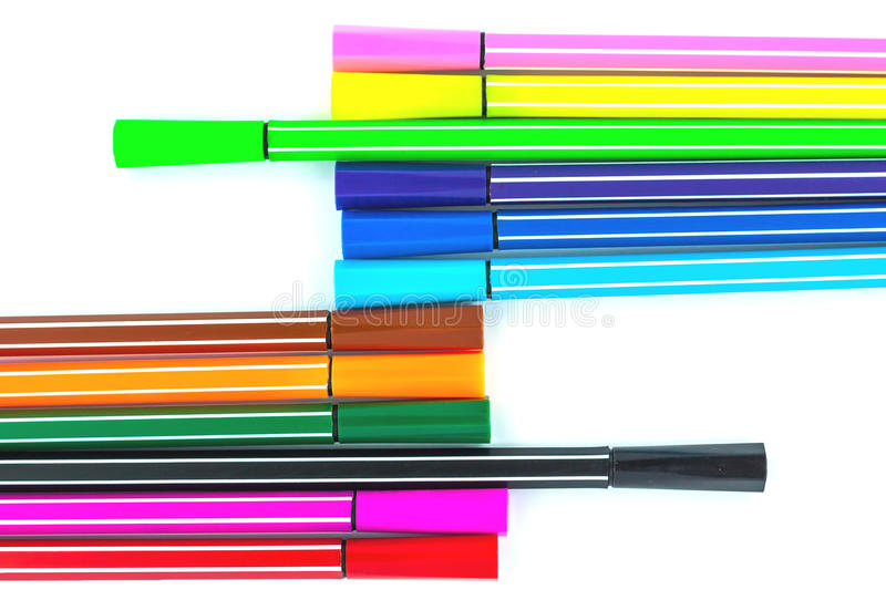 Download Colorful pen stock image. Image of graphic, draw, school - 24876551