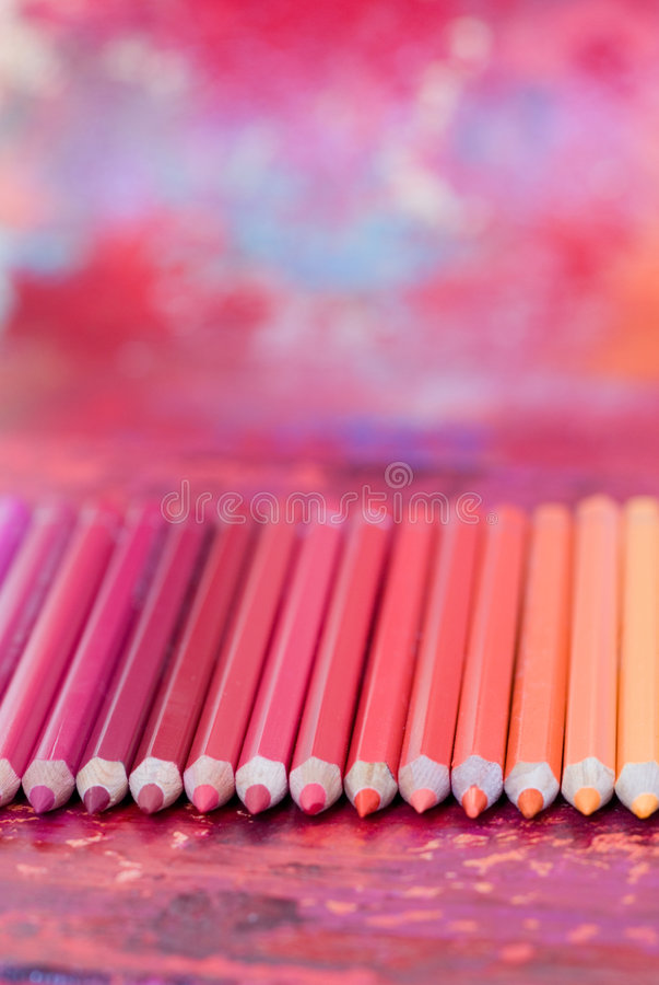 Colorful pencil crayons