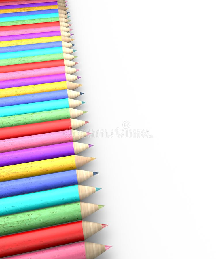 Download Colorful pencil row stock illustration. Image of college - 34810950