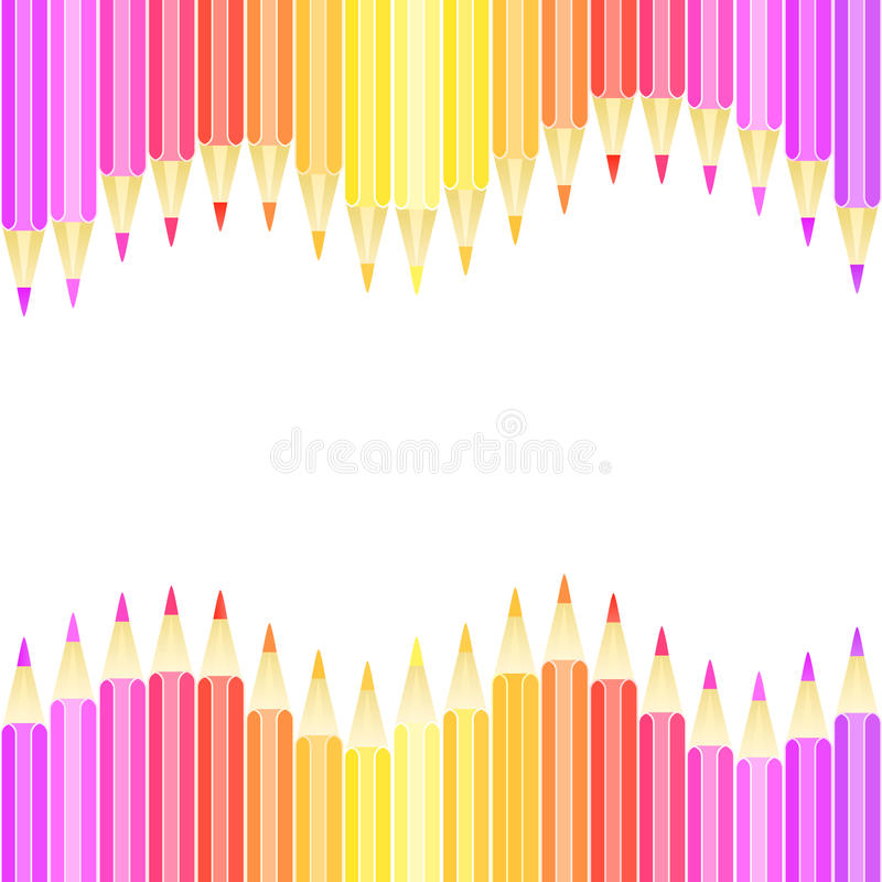 Download Colorful Pencil Seamless Background Stock Vector - Image: 23840640