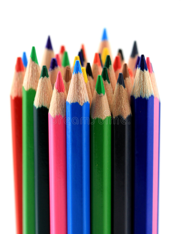 Colorful pencils royalty free stock photo