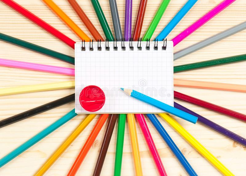 Download Colorful pencils stock photo. Image of label, circle - 33986806