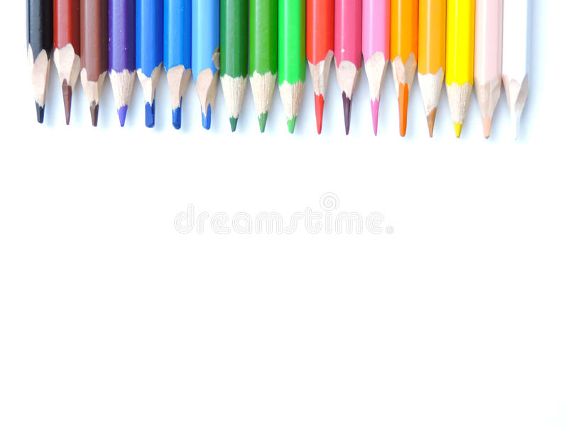 Colorful pencils. Colorful color for development of creative abilities of adolescents and children stock photography