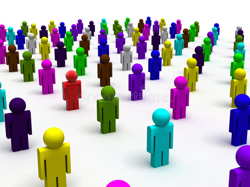 Colorful people stock illustration