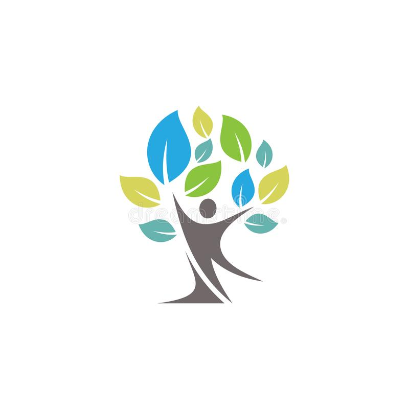 Colorful people tree symbol vector icons symbol. Spring leaves ecology symbols. Vector illustration EPS.8 EPS.10 vector illustration