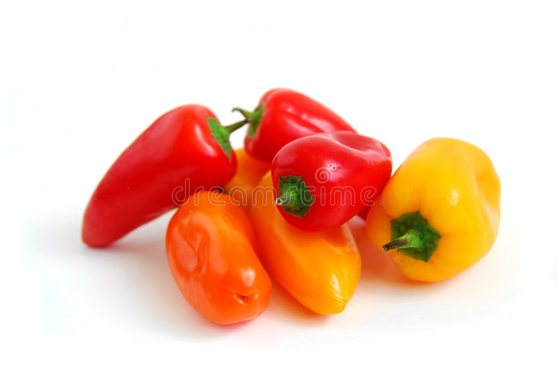 Colorful peppers stock image