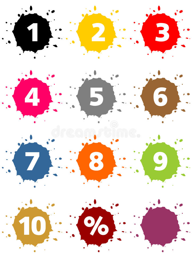 Download Colorful percentage sign stock image. Image of present - 31168653