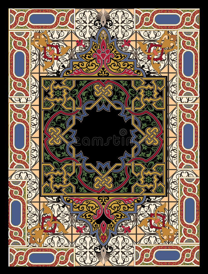Colorful persian rug stock photography