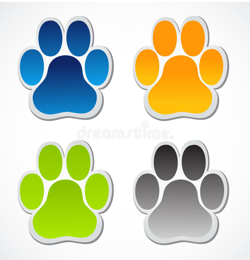 Download Paw print stock vector. Illustration of colorful, green - 29789941