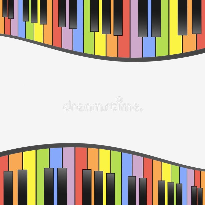 Download Colorful Piano Keys Background Wallpaper Template Illustration Stock Vector