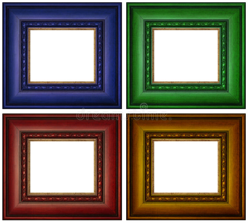 Colorful Picture Frames stock images