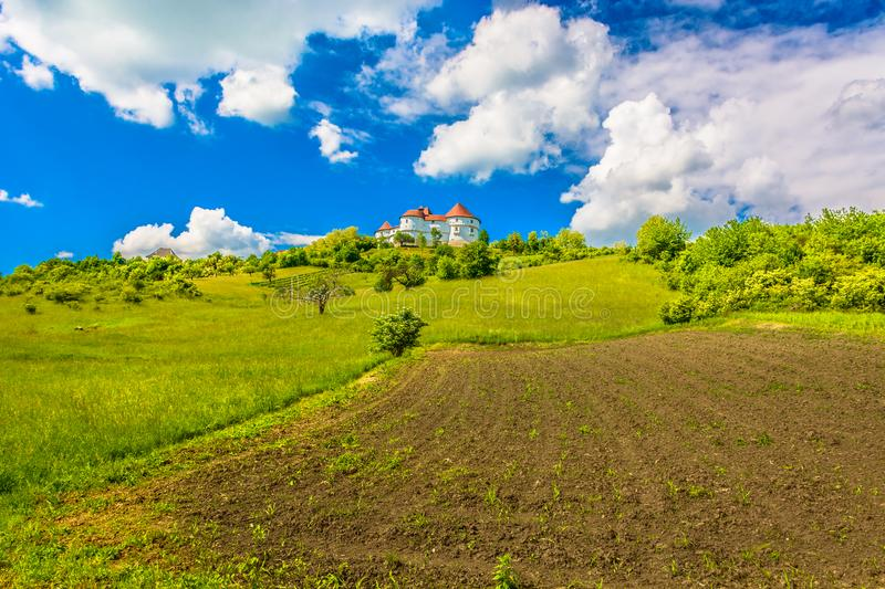 Colorful picturesque scenery in Zagorje, Croatia. stock photography